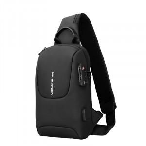 Рюкзак однолямочный Mark Ryden MR7039 черный фото сбоку