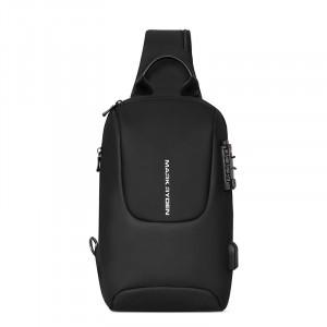 Рюкзак однолямочный Mark Ryden MR7039 черный фото спереди