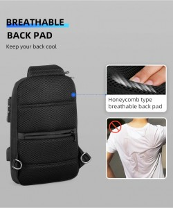 Рюкзак однолямочный Mark Ryden MR7039 черный дешащая спинка