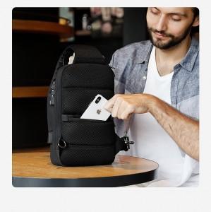 Рюкзак однолямочный Mark Ryden MR7039 черный потайной карман