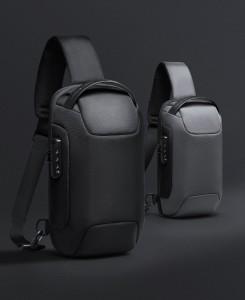 Рюкзак однолямочный Mark Ryden MR7116 черный и серый