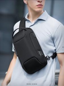 Рюкзак однолямочный Mark Ryden MR7116 черный на мужчине фото1