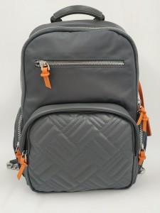 Женский рюкзак для ноутбука 13 BOPAI 62-50258 серый с оранжевыми бирками