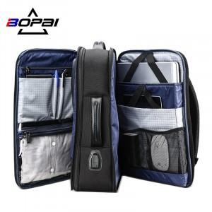 Дорожный рюкзак BOPAI 61-19011 черный фото основного отделения