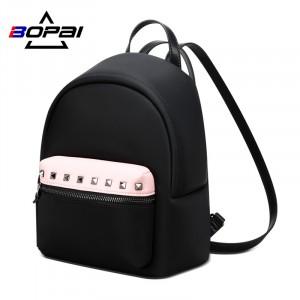 Маленький женский черный рюкзак Bopai 62-19931