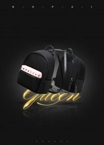 Маленький женский черный рюкзак Bopai 62-19931 мода 2020-2021