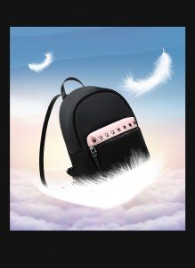 Маленький женский черный рюкзак Bopai 62-19931 весит всего 600 грамм