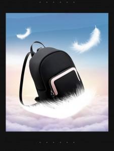 Мини рюкзак женский BOPAI 62-19631 черный весит всего 420 грамм