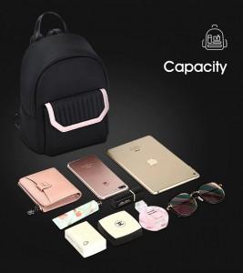 Маленький черный рюкзак BOPAI 62-20031 объем вещей