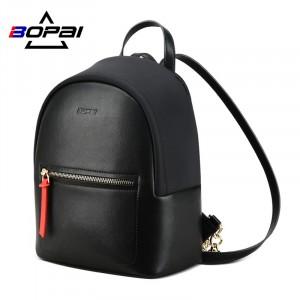 Мини маленький черный рюкзак BOPAI 62-19531