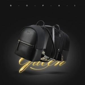 Мини маленький черный рюкзак BOPAI 62-19531 мода 2020-2021
