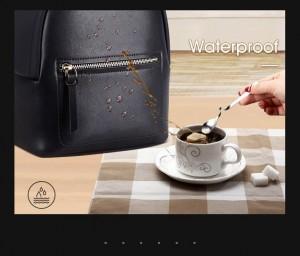 Мини маленький черный рюкзак BOPAI 62-19531 материал не впитывает воду и не боится загрязнений
