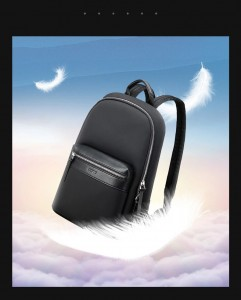Женский деловой рюкзак для ноутбука 14 BOPAI 62-17721 черный весит всего 680 грамм