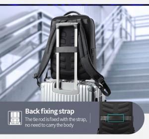 Рюкзак для ноутбука 15.6 BOPAI61-67111 легко фиксируется на ручке багажа