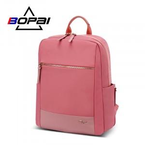 Женский деловой рюкзак для ноутбука 14 BOPAI 62-51316 розовый
