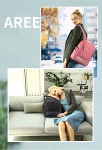 Женский деловой рюкзак для ноутбука 14 BOPAI 62-51316 розовый демонстрирует модели