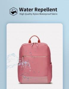 Женский деловой рюкзак для ноутбука 14 BOPAI 62-51316 розовый не впитывает воду