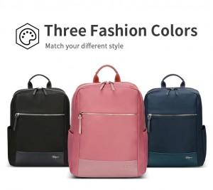 Женский деловой рюкзак для ноутбука 14 BOPAI 62-51316 розовый черный и синий