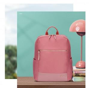 Женский деловой рюкзак для ноутбука 14 BOPAI 62-51316 розовый в интерьере