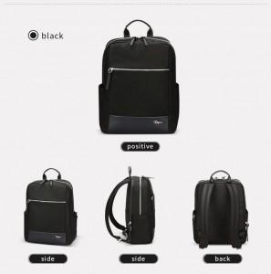 Женский деловой рюкзак для ноутбука 14 BOPAI 62-51311 черный фото в разных проекциях