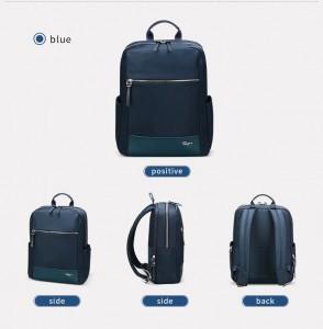 Женский деловой рюкзак для ноутбука 14 BOPAI 62-51312 синий во всех проекциях