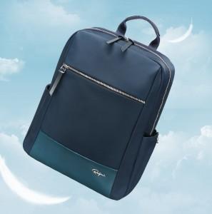 Женский деловой рюкзак для ноутбука 14 BOPAI 62-51312 синий весит всего 620 грамм
