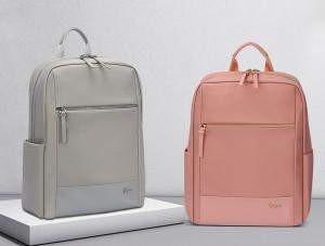 Женский деловой рюкзак для ноутбука 14 BOPAI 62-51318 серый и розовый в сравнении