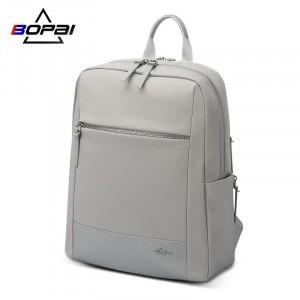 Женский деловой рюкзак для ноутбука 14 BOPAI 62-51318 серый с лого