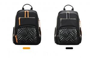 Рюкзак женский деловой для ноутбука 13 дюймов BOPAI 62-50251 черный со сменными декоративными застежками