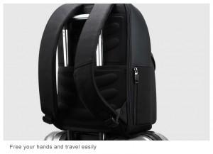 Рюкзак для ноутбука 15.6 BOPAI61-02011 черный легко крепится на чемодан