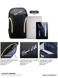 Молодежный рюкзак для ноутбука 15,6 Bopai Life 961-01911 фото деталей