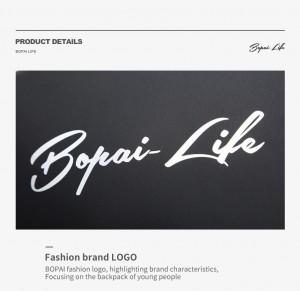 Молодежный рюкзак для ноутбука 15,6 Bopai Life 961-01911 логотип крупным планом