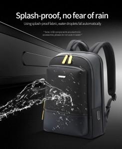 Мужской деловой рюкзак Bopai 61-58911 не впитывает воду