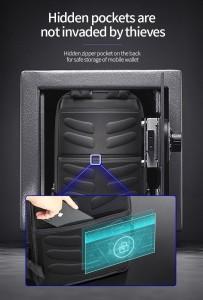 Мужской деловой рюкзак Bopai 61-58911 потайной карман на спинке рюкзака