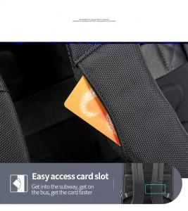 Мужской деловой рюкзак Bopai 61-58911 слот для транспортных карт в лямке рюкзака