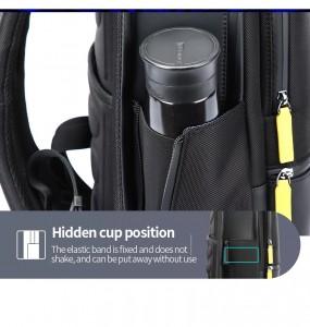 Мужской деловой рюкзак Bopai 61-58911 боковой карман для зонта/бутылки воды