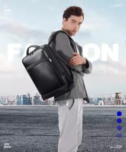 Кожаный мужской рюкзак BOPAI Bopai 61-67011 демонстрирует модель