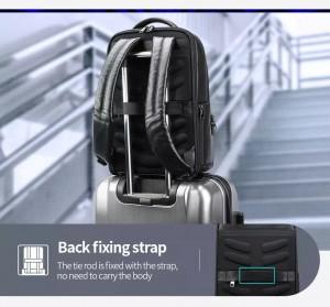 бизнес рюкзак Bopai 61-67011 легко крепится на ручку чемодана