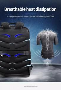 бизнес рюкзак Bopai 61-67011 анатомическая дышащая спинка рюкзака с 9 ребрами жесткости