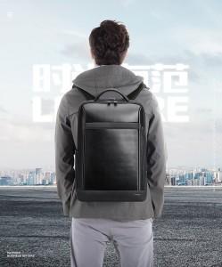Бизнес рюкзак для ноутбука 15.6 BOPAI 61-67011 черныйдемонстрирует модель фото 1