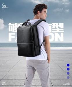 Кожаный рюкзак для ноутбука 15,6 Bopai 61-69711 фото на модели