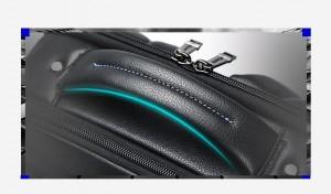 Рюкзак из натуральной кожи для ноутбука 15.6 BOPAI 61-69711 ручка рюкзака