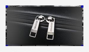Рюкзак из натуральной кожи для ноутбука 15.6 BOPAI 61-69711 двойные молнии