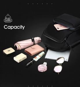 Рюкзак женский деловой BOPAI 62-19321 черный объем вмещаемых вещей