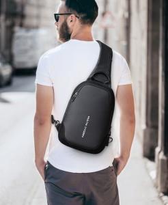 Рюкзак через плечоMark Ryden MR7056_00черный на мужчине
