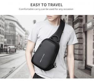 Рюкзак через плечоMark Ryden MR7056_00черный на мужчине фото2