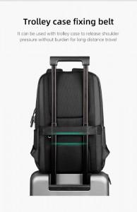 Городской рюкзак для ноутбука Mark Ryden MR9306 легко крепится на чемодане при помощи ленты