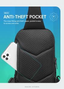 Сумка нагрудная Mark RydenMR8518 черная потайной карман