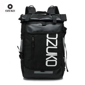 Молодежный модный рюкзак  OZUKO 8020 черный