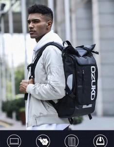 Рюкзак молодежный для подростков OZUKO 8020 черный